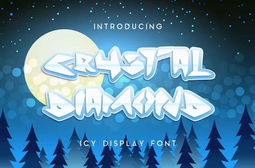 Crystal Diamond Icy Display Font