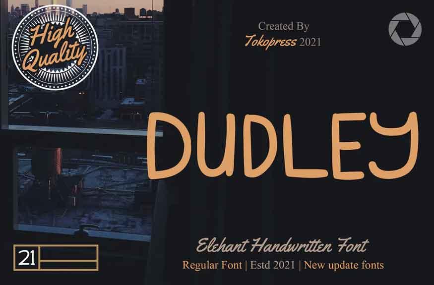 DUDLEY - Modern handwriting font