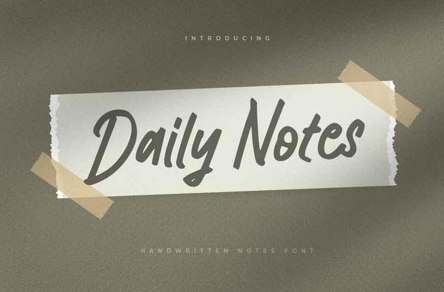Daily Notes Font