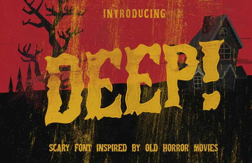 Deep Horror Font