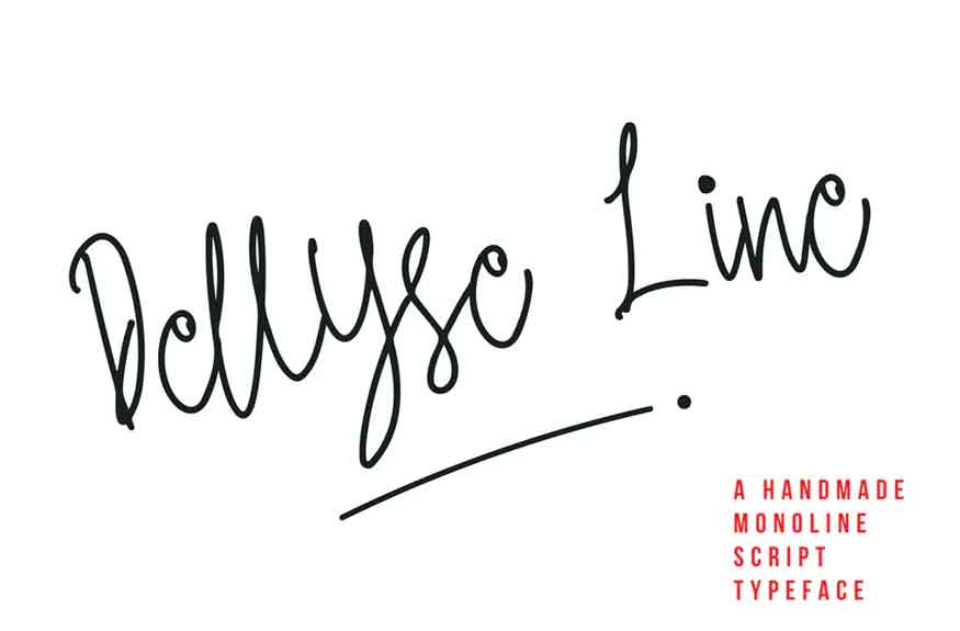 Dellyse Line Font