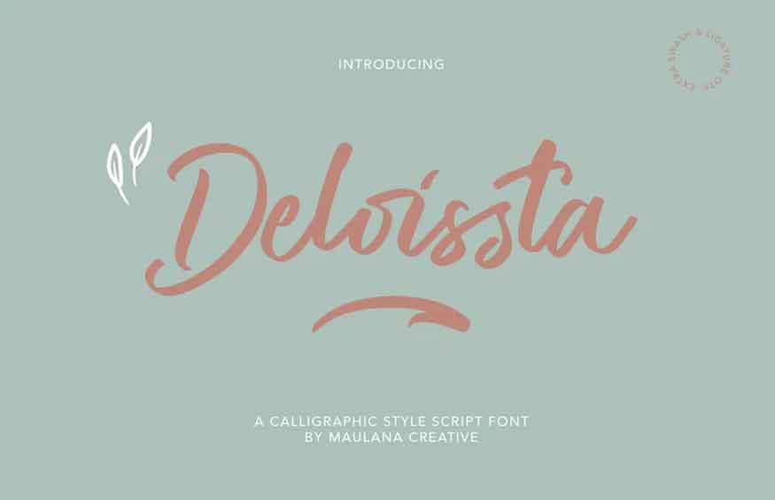 Deloissta Script Font