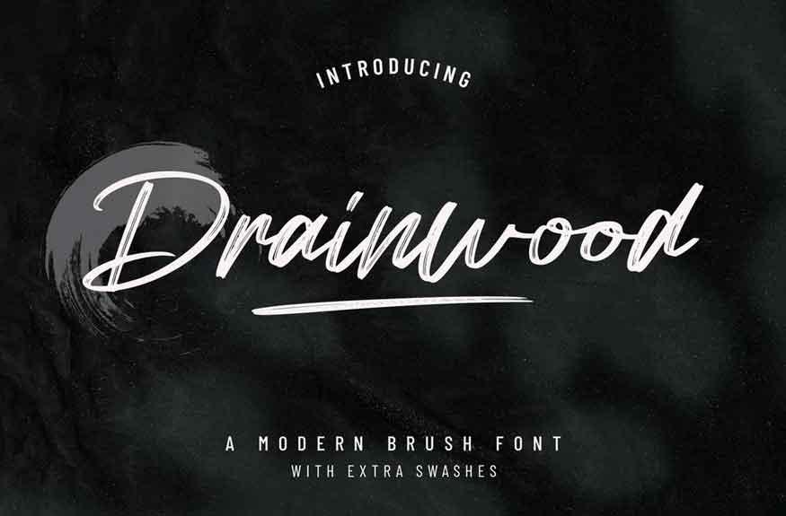 Drainwood Font
