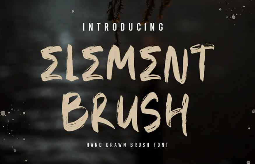 ELEMENT Brush Font
