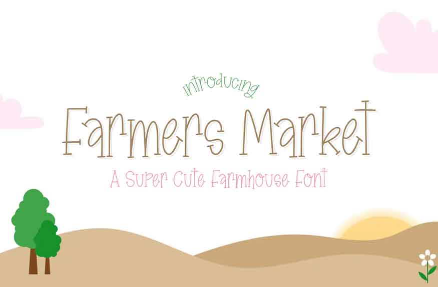 Farmers Market Font