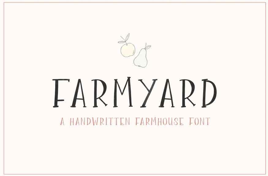 Farmyard Font