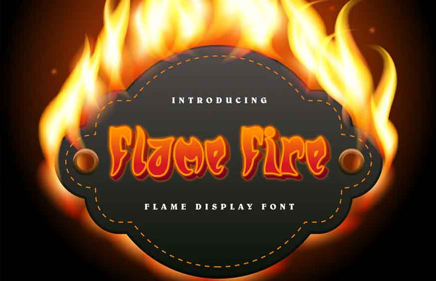 Flame Fire Font