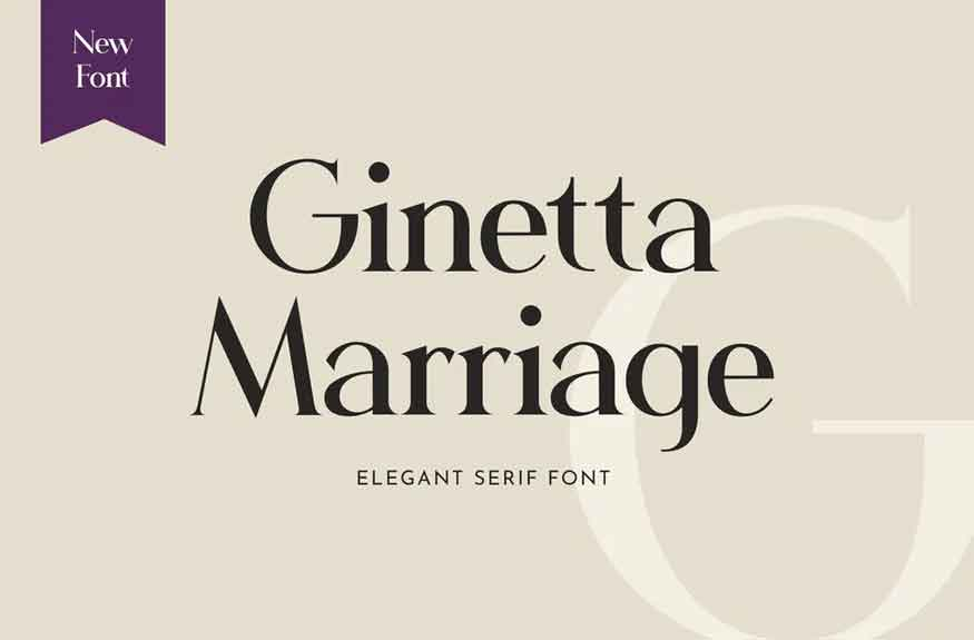 Ginetta Marriage Font