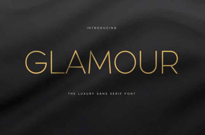 Glamour Font