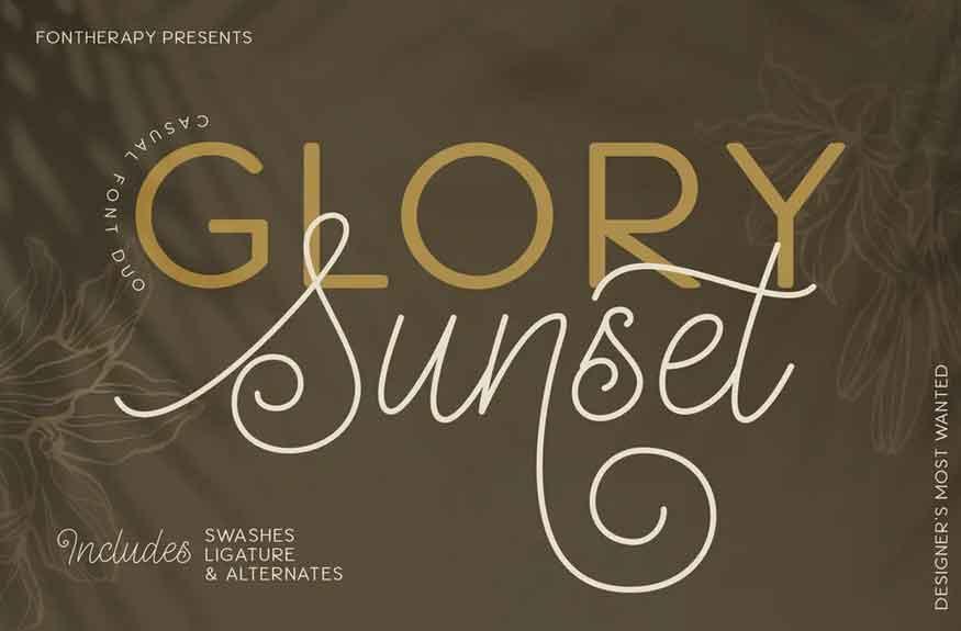 Glory Honey Font