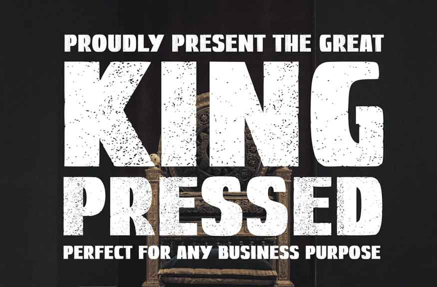 Great Kings Pressed Font