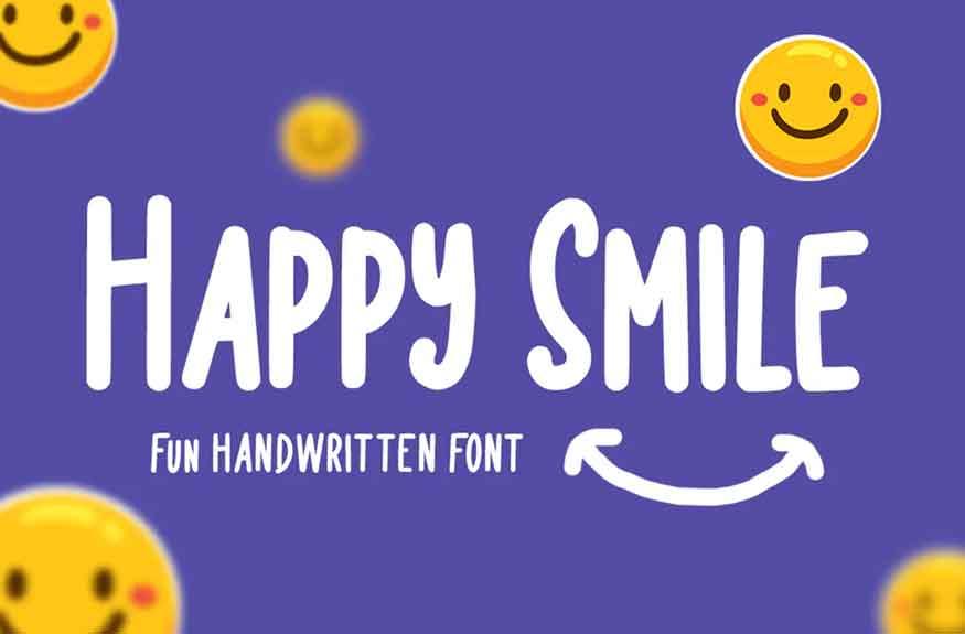 Happy Smile Font