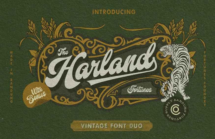 Harland Font