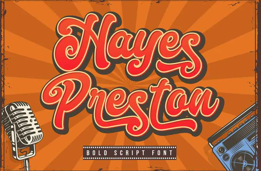 Hayes Preston Font