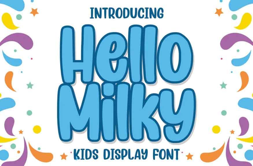 Hello Milky Font