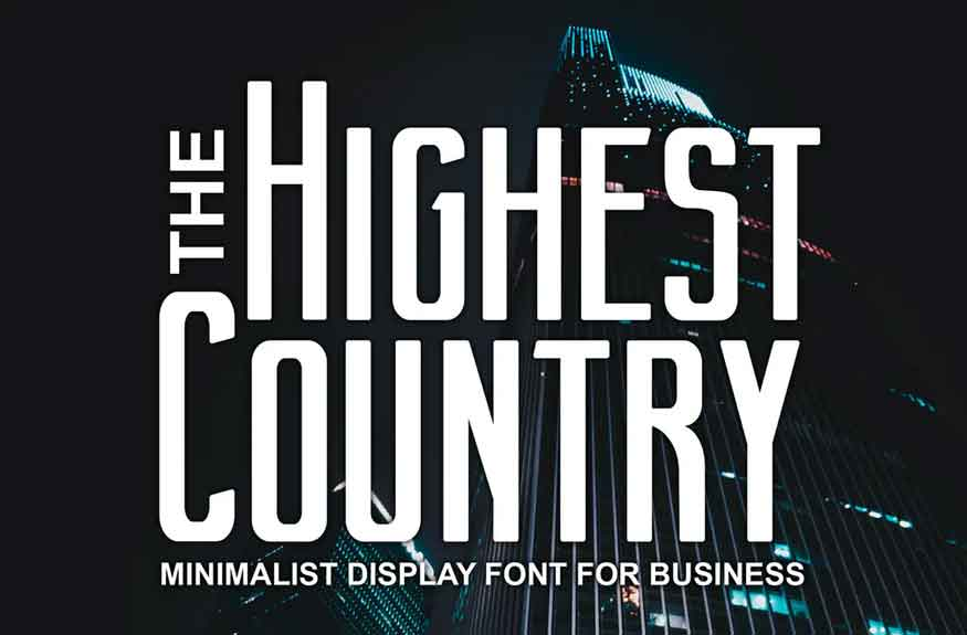 Highest Country Font