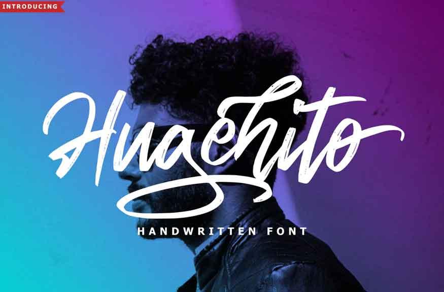 Hugehito Brush Font