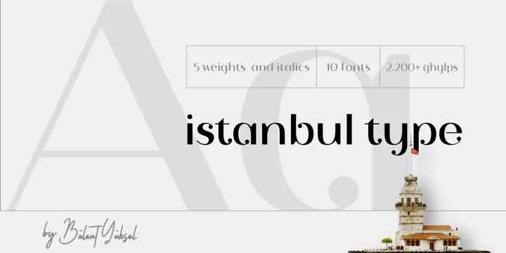 Istanbul Type Font