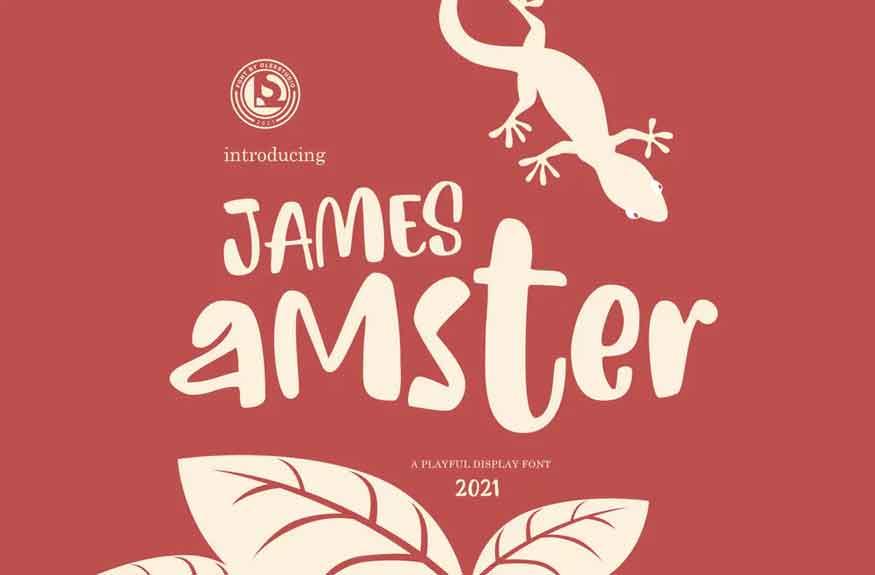 James Amster Font