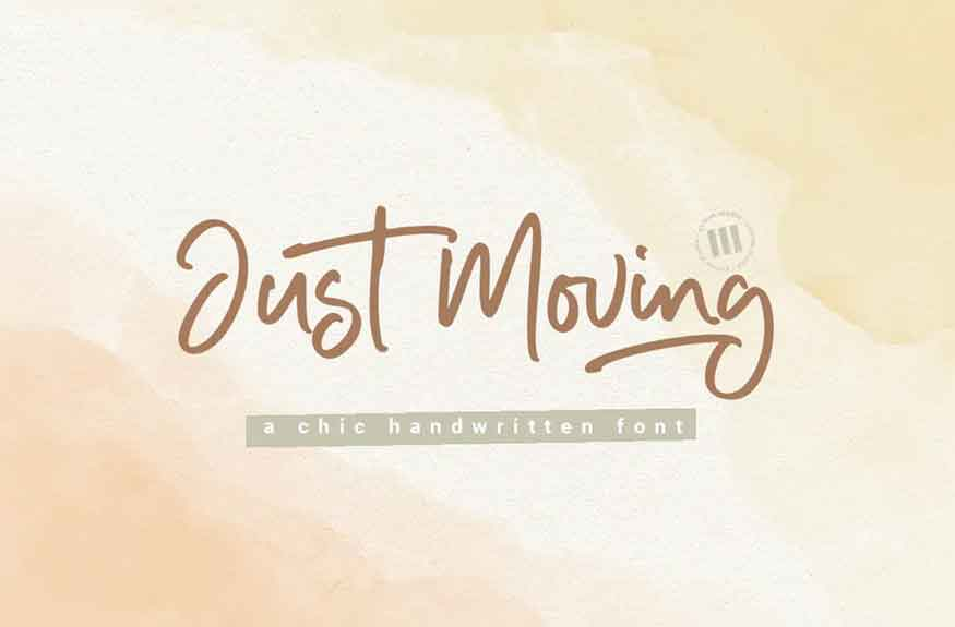 Just Moving Font