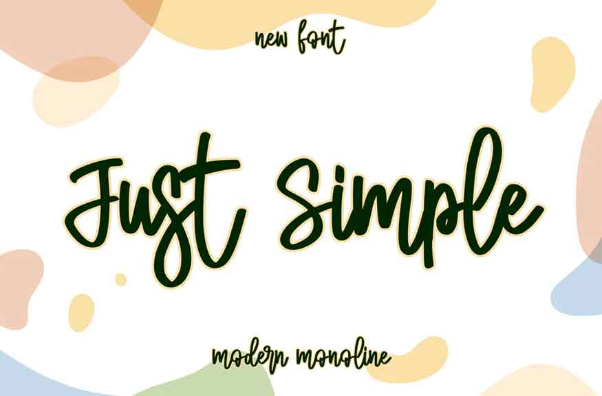 Just Simple Font