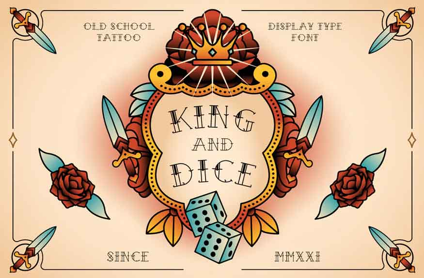 King And Dice Font