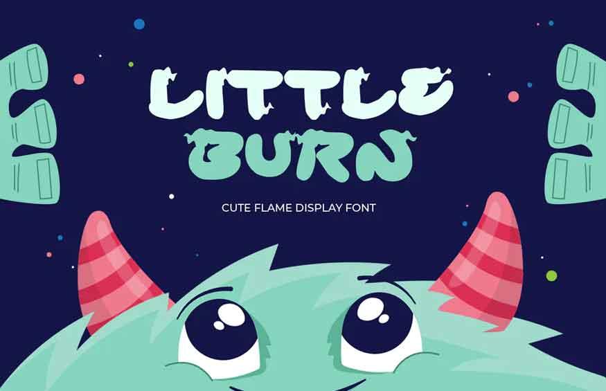 Little Burn Display Font