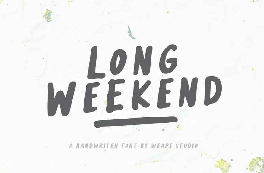 Long Weekend Font