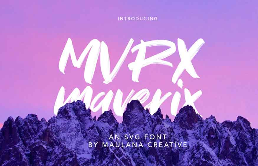 MVRX Maverix Font