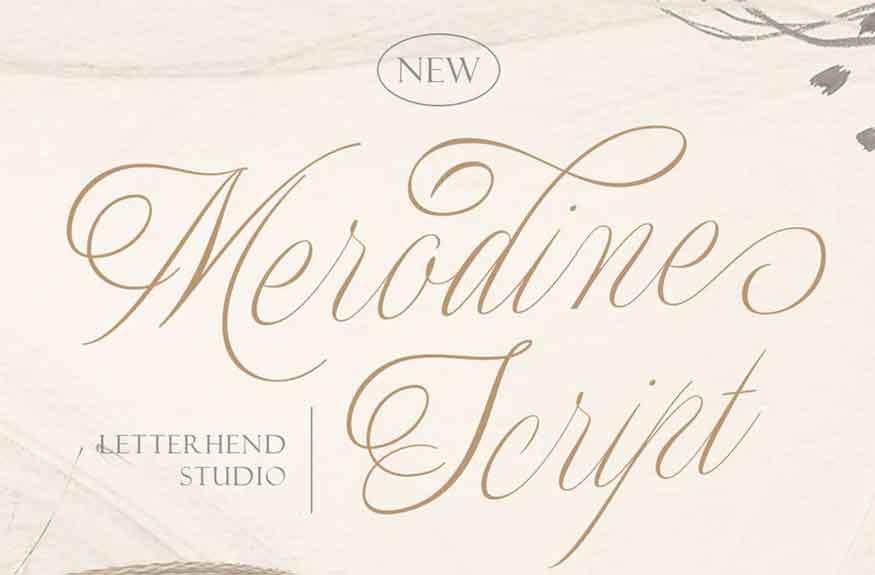 Merodine Script Font