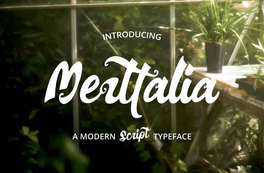 Merttalia Modern Script Font