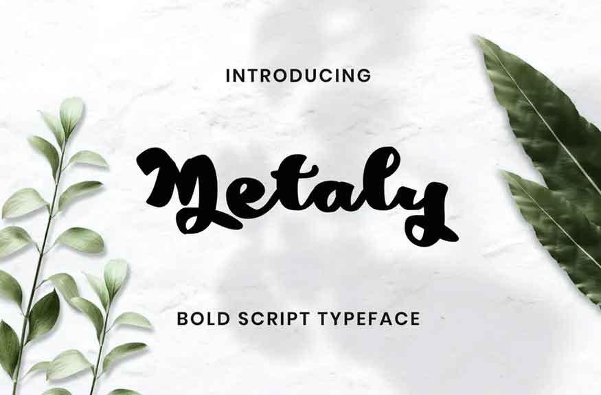 Metaly Modern Script Font