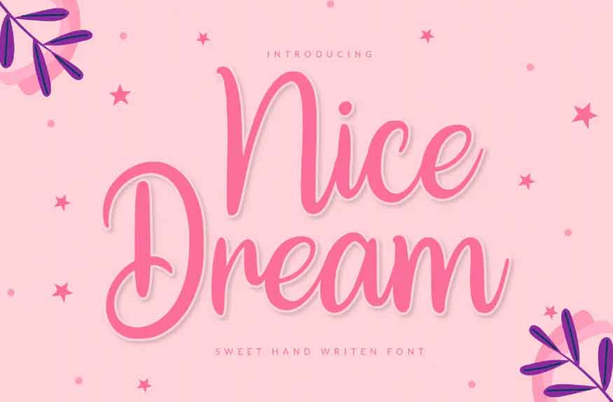 Nice Dream Font