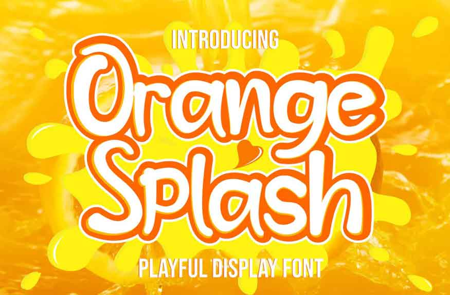 Orange Splash Font