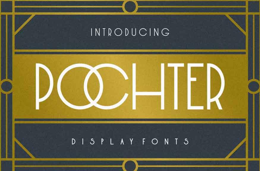 Pochter Art Deco Font