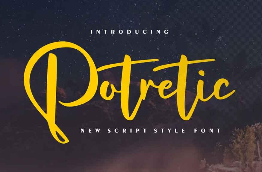 Potretic Font