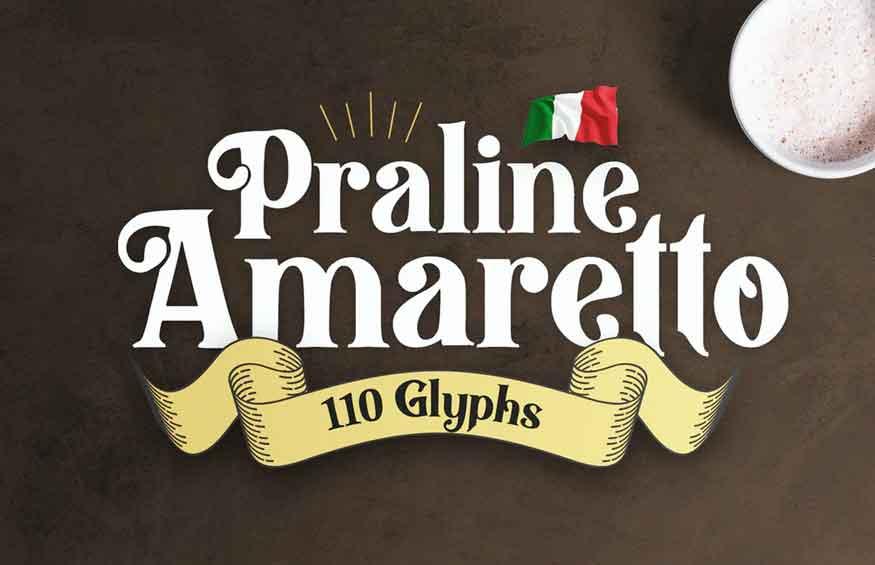 Praline Amaretto Font