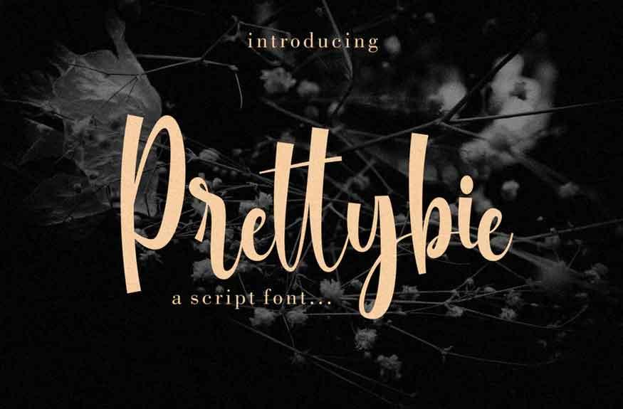 Prettybie Script Font