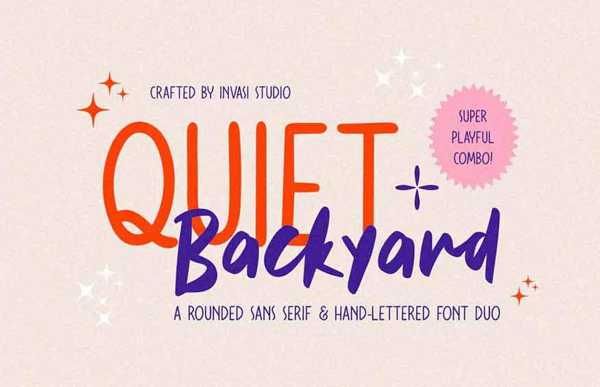 Quiet Backyard Font