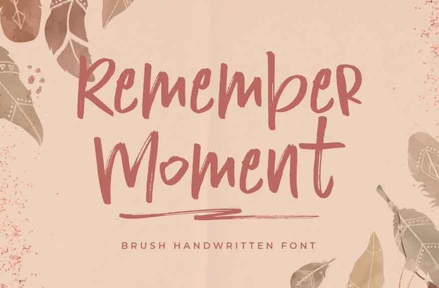 Remember Moment Font