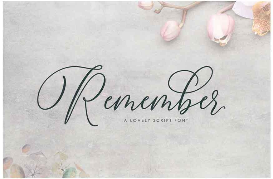 Remember Font