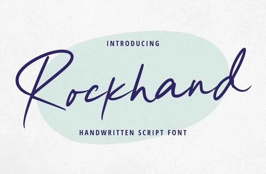 Rockhand Font