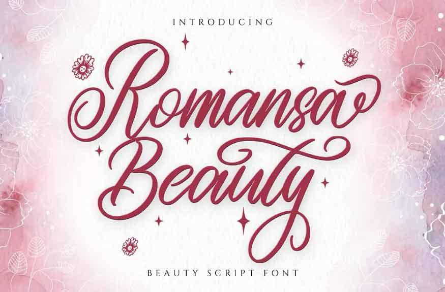 Romansa Beauty Font