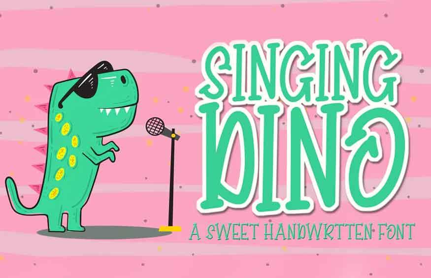 Singing Dino Font