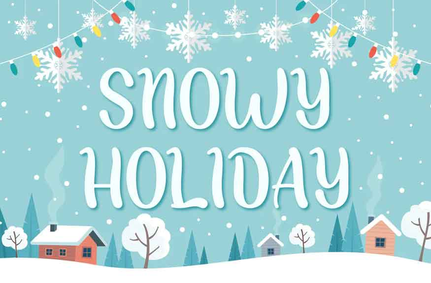 Snowy Holiday Font