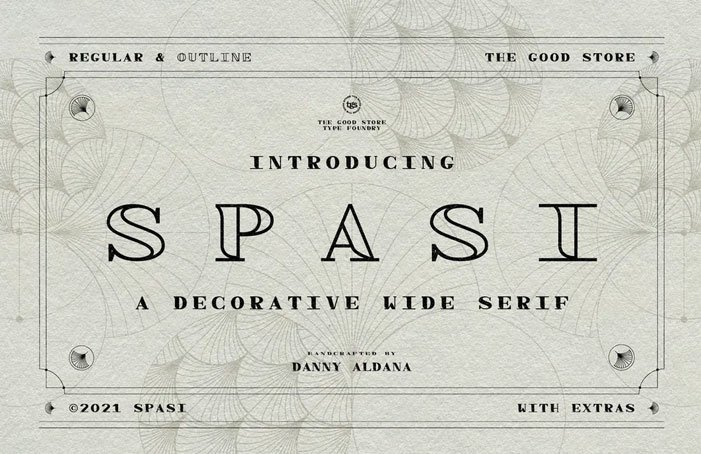 Spasi Decorative Wide Serif