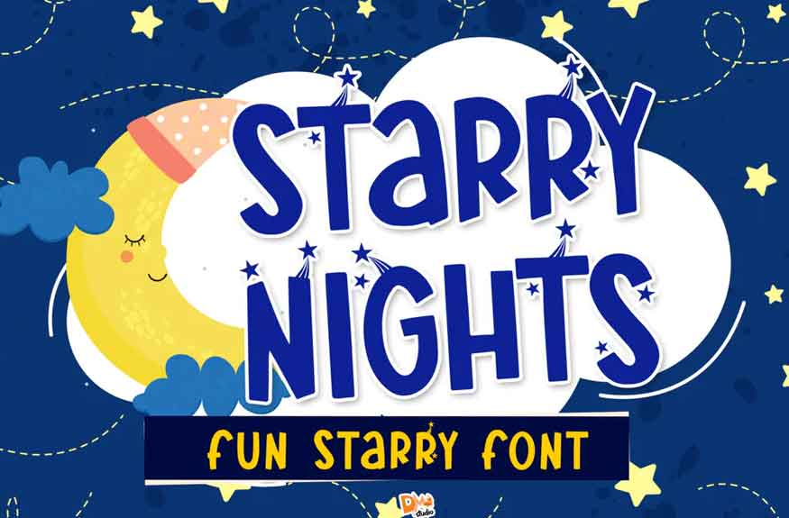 Starry Nights Font
