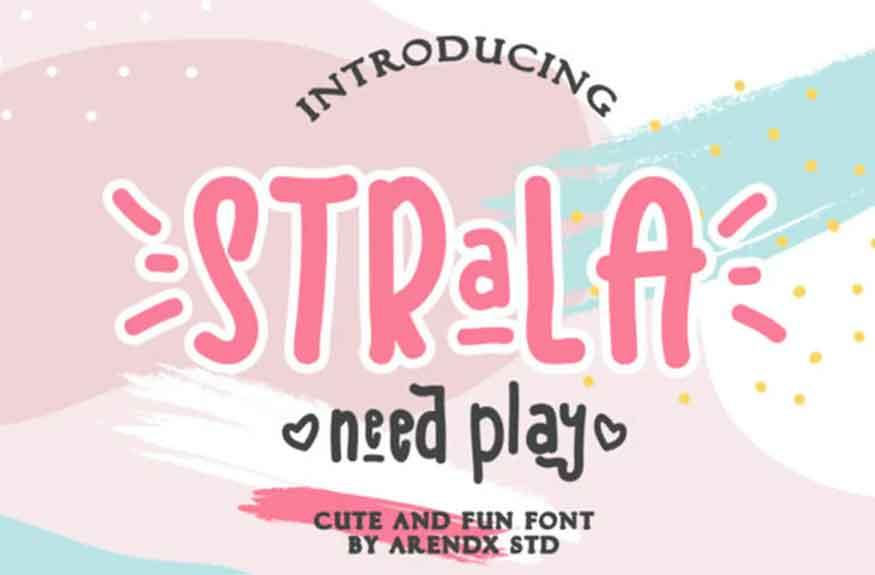 Strala Need Play Font