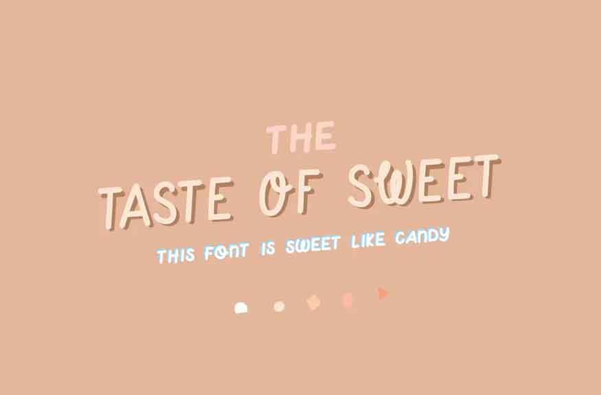 Taste of Sweet Font