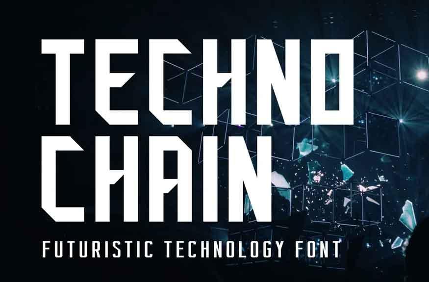 Techno Chain Font